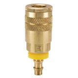 20 Series Brass Coupler with Push-Lok Hose Barb