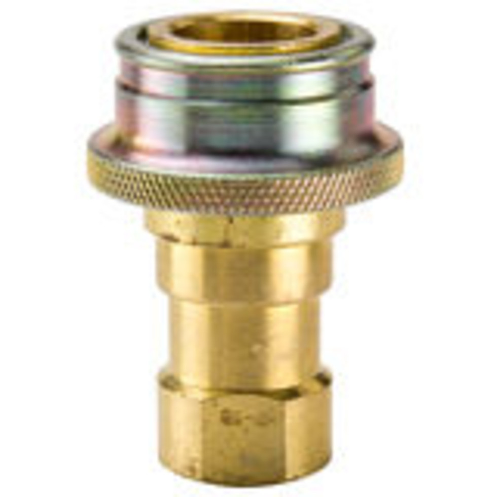 .60 Series-Brass Steam Coupler with Grip Ring Sleeve