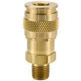 Brass UC Series Coupler with Male Threads