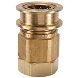 EA Series Brass Coupler with Female Thread, Valved