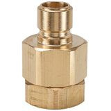 EA Series Brass Nipple with Female Thread, Valved