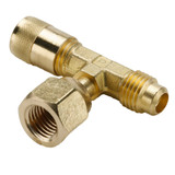 Flare to Female Branch Tee - Female Branch Swivel Tee - Refrigeration Access Valves