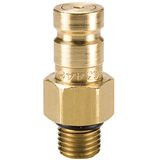 PD Style Brass test port Nipple - Diag Fluid Sampling Couplings