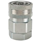 Snap-tite H Series Steel Coupler, Valved with Fluorocarbon Seals
