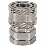 Snap-tite H Series Stainless Steel Coupler, Unvalved