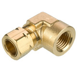 Tube to Female Pipe - 90 Elbow - Brass Compression Fittings, High Pressure