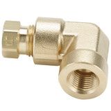 Tube to Female Pipe - 90 Elbow - Brass Flareless Tube Fitting, Impulse
