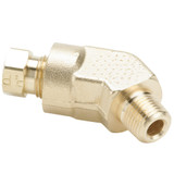 Tube to Pipe - 45 Elbow - Brass Flareless Tube Fitting, Impulse