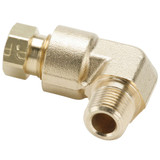 Tube to Pipe - 90 Elbow - Brass Flareless Tube Fitting, Impulse