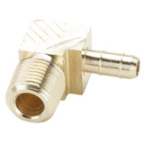 Tube to Pipe - 90 Elbow - Brass Pneumatic Hose Barbs for Tubing, Dubl-Barb