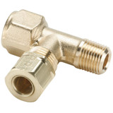 Tube to Pipe - Adapter Tee - Brass Compression Fittings, High Pressure