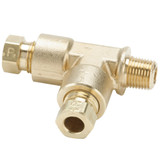 Tube to Pipe - Run Tee - Brass Flareless Tube Fitting, Impulse