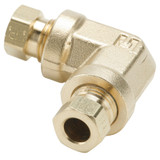 Tube to Tube - 90 Elbow - Brass Flareless Tube Fitting, Impulse